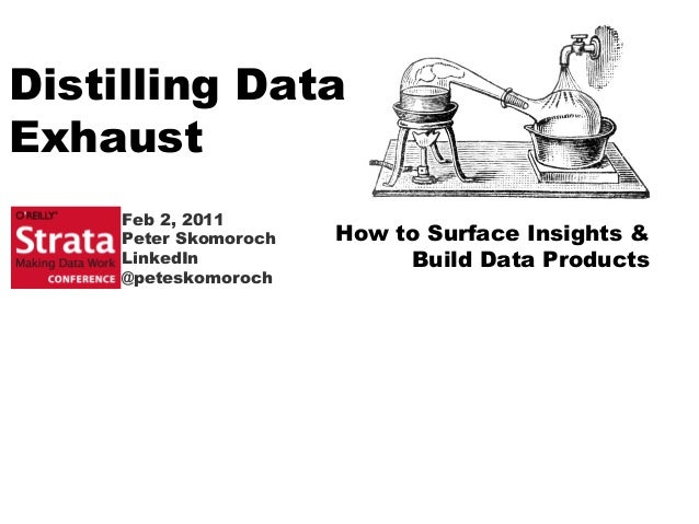 Distilling Data Exhaust How to Surface Insights & Build Data Products Feb 2, 2011 Peter Skomoroch LinkedIn @peteskomoroch