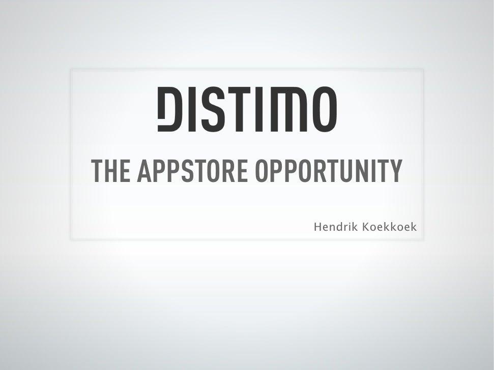 Mobile PIoneers - Distimo - Hendrik Koekoek - Visie op de markt