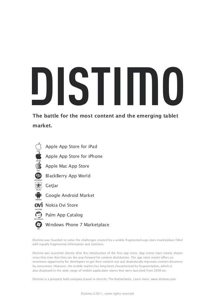 Distimo移动应用市场研究报告2011年4月版