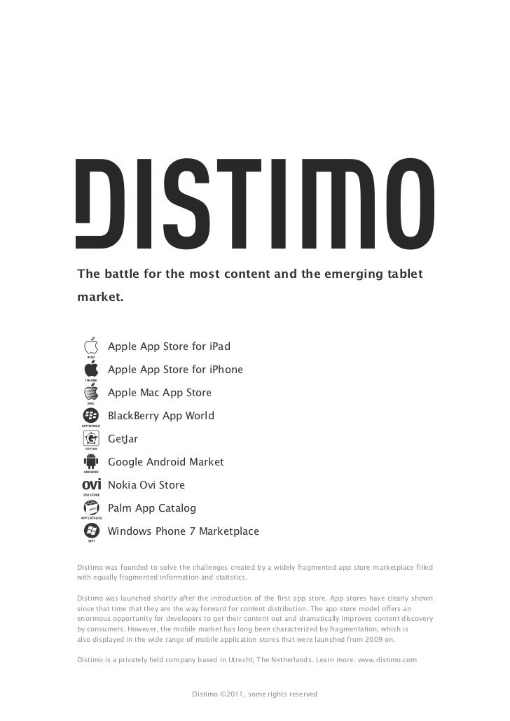 Mobile Applications Performance - Distimo publication