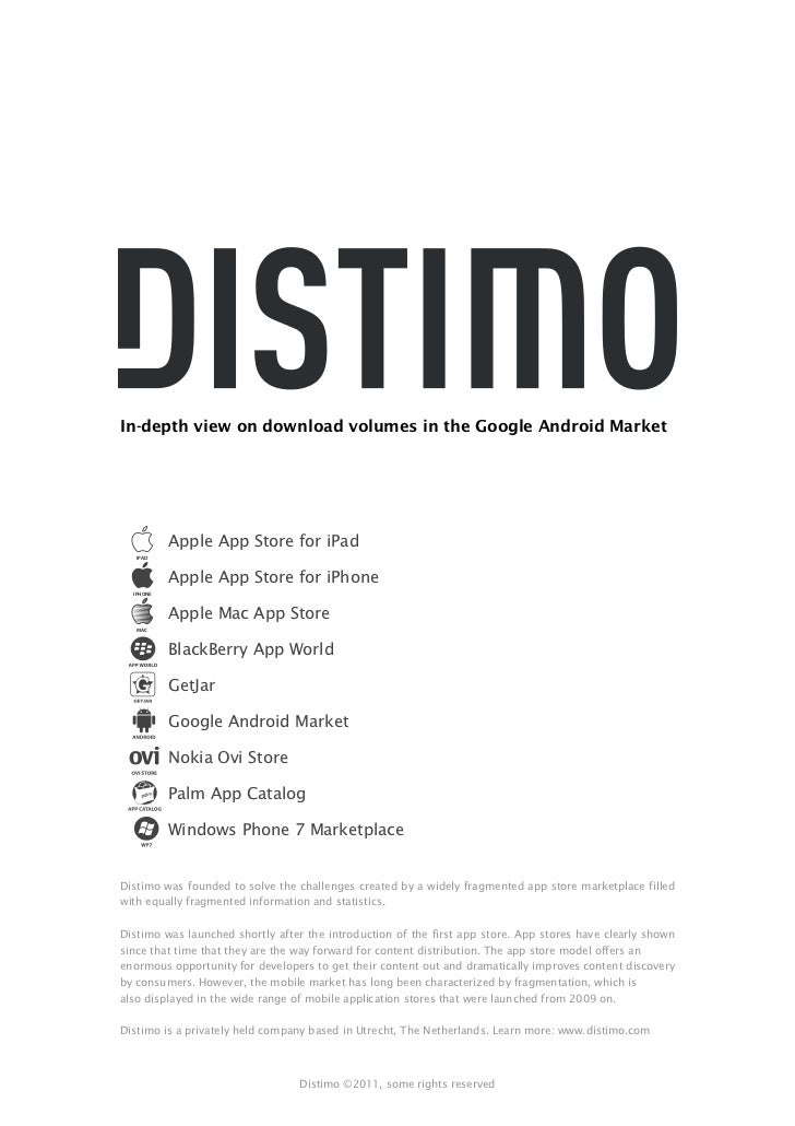 In-depth view on download volumes in the Google Android Market           Apple App Store for iPad   IPAD           Apple A...