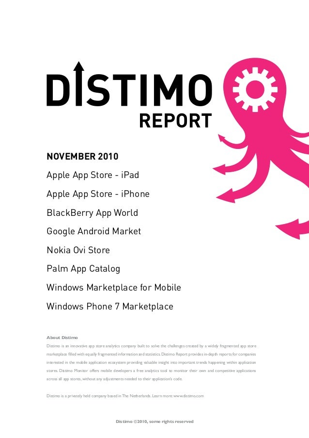 Distimo report   november 2010