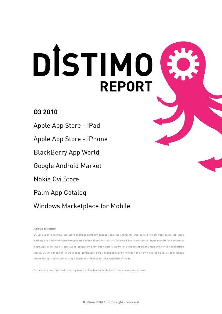 Distimo report september 2010