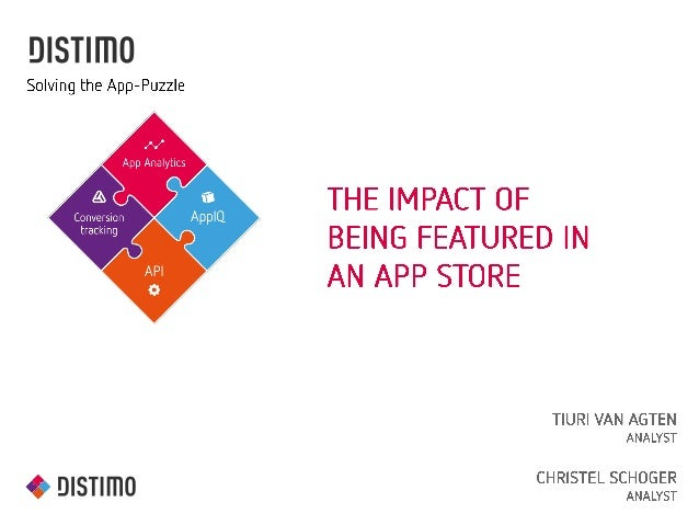 Distimo Webinar: The Impact of Being Featured in an App Store