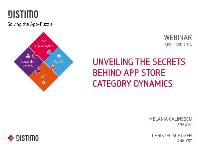 Distimo Webinar: Unveiling the Secrets behind  App Store Category Dynamics
