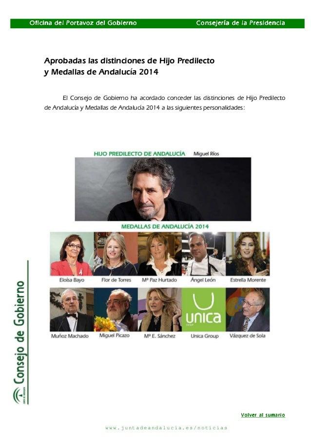 Distinciones Andalucía 2014