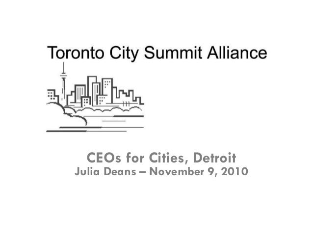 The Latest in City Brands - Julia Deans, CEO of the Toronto City Summit Alliance