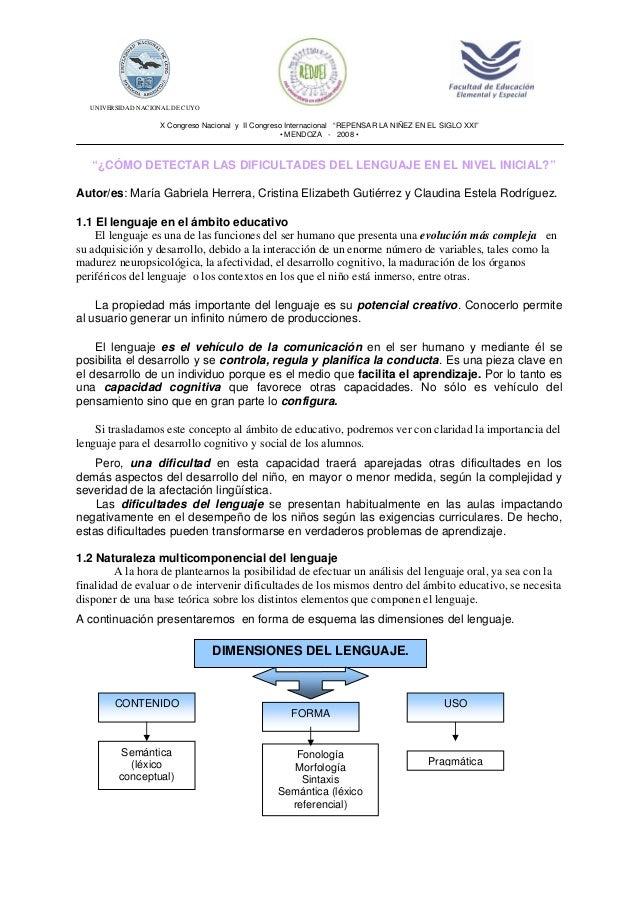 """UNIVERSIDAD NACIONAL DE CUYO X Congreso Nacional y II Congreso Internacional """"REPENSAR LA NIÑEZ EN EL SIGLO XXI"""" • MENDOZA..."""