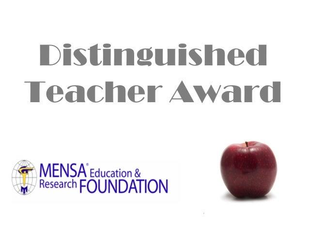 Distinguished Teacher Award