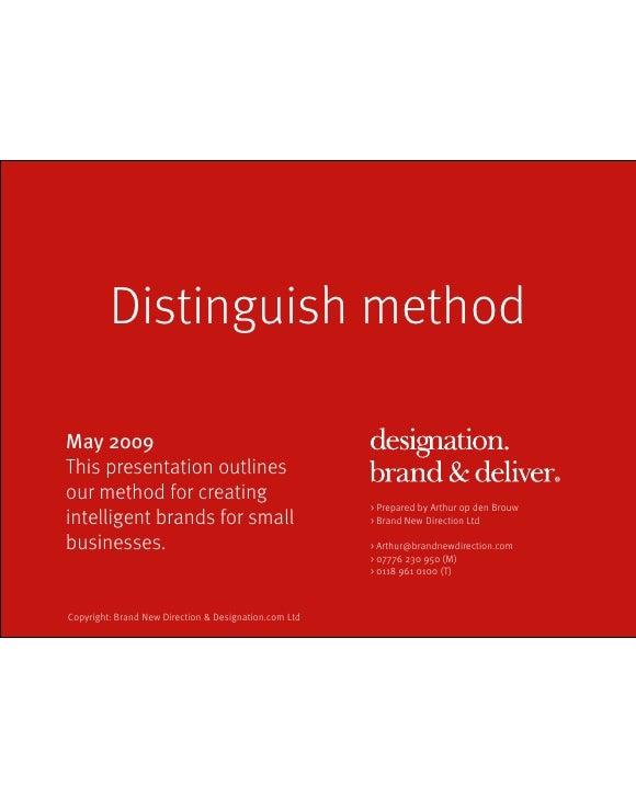 Distinguish Method V3