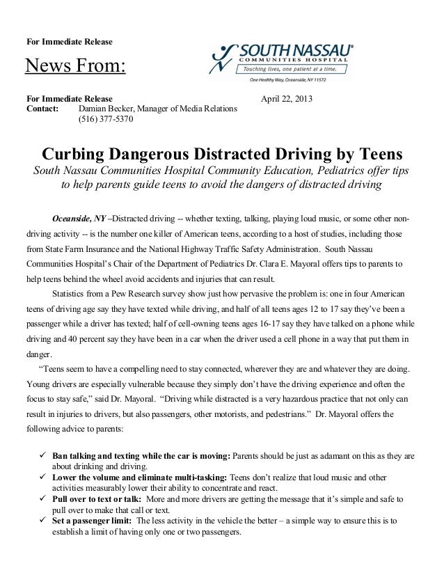 Curbing Dangerous Distracted Driving by Teens