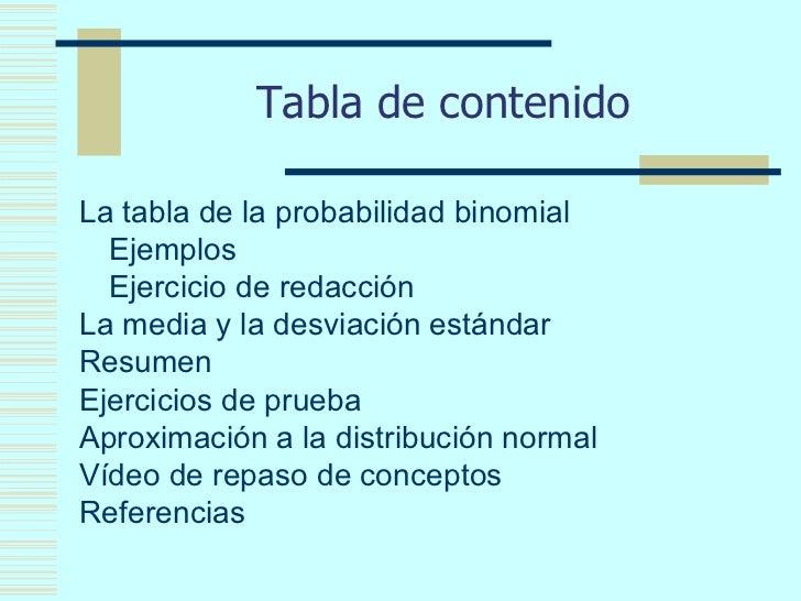 Tabla de contenido ul li la tabla de la probabilidad View Image