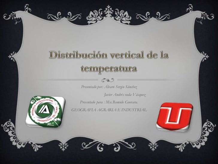 Distribución vertical de la temperatura