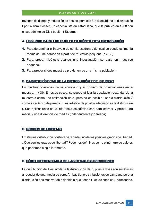 Distribucion t student pdf