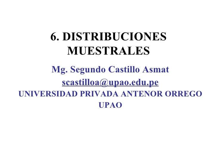 Distribuciones muestrales diapositivas
