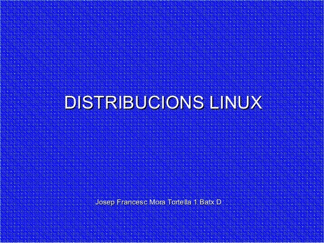Distribucions de Linux
