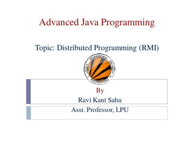 Distributed Programming (RMI)
