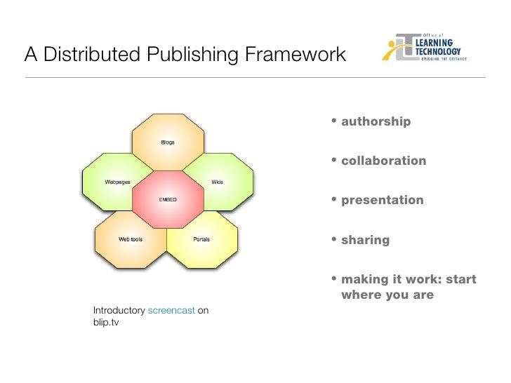 <ul><li>authorship </li></ul><ul><li>collaboration </li></ul><ul><li>presentation </li></ul><ul><li>sharing </li></ul><ul>...