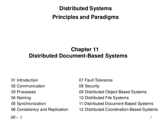 Distributed Systems Principles and Paradigms Chapter 11 Distributed Document-Based Systems 01 Introduction 02 Communicatio...