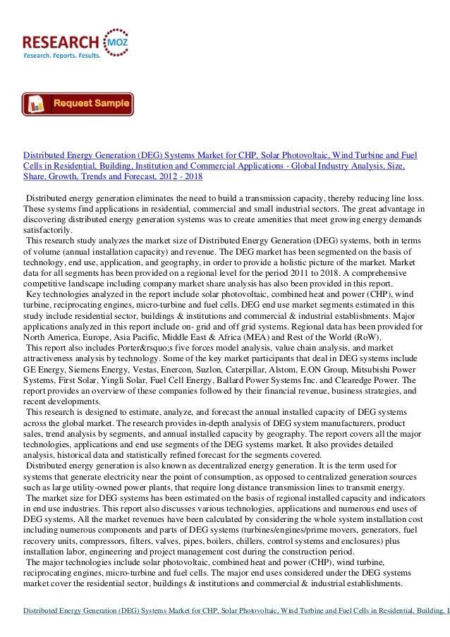 Global Distributed Energy Generation (DEG) Systems Market
