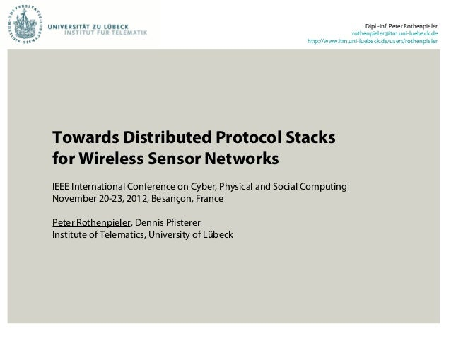 Towards Distributed Protocol Stacks for Wireless Sensor Networks
