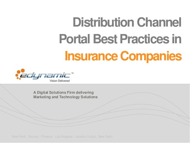 Distribution Channel Portal Best Practices in Insurance Companies