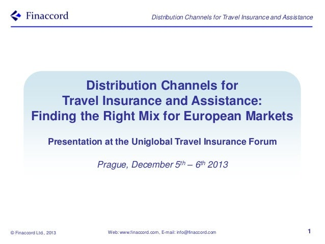 Distribution Channels for Travel Insurance and Assistance  Distribution Channels for Travel Insurance and Assistance: Find...
