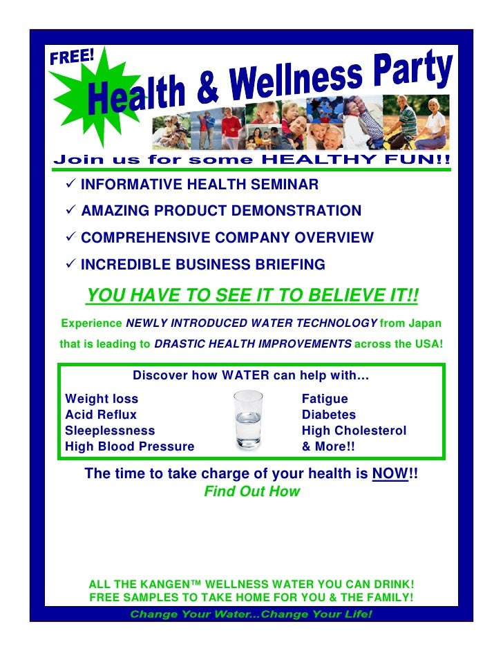 INFORMATIVE HEALTH SEMINAR    AMAZING PRODUCT DEMONSTRATION    COMPREHENSIVE COMPANY OVERVIEW    INCREDIBLE BUSINESS BRIEF...