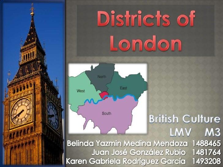 Districs of London