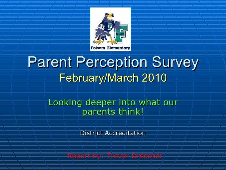 Parent Survey Results PowerPoint
