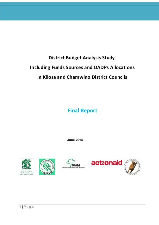 District budget analysis study report final