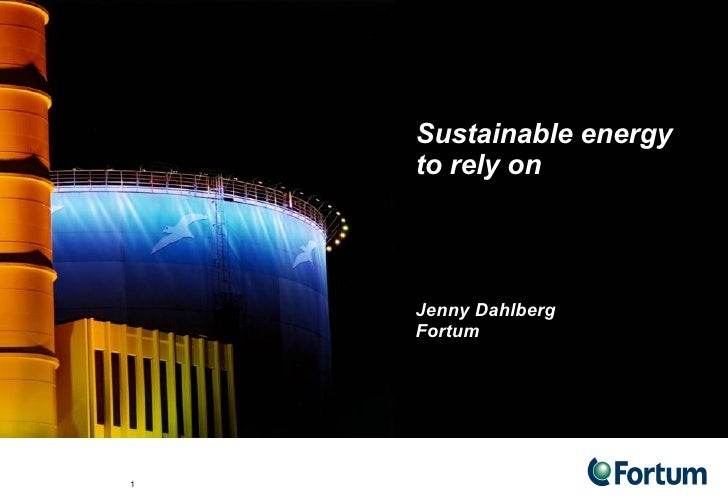 District Cooling   Jenny Dahlberg, Fortum