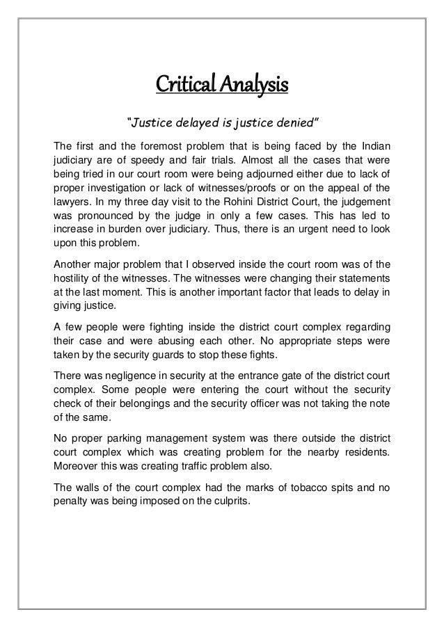 absolute justice essay