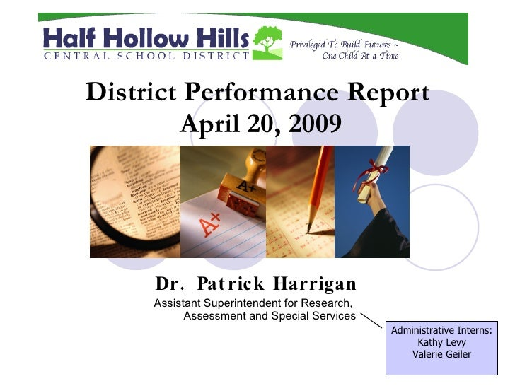 District Performance Report2009