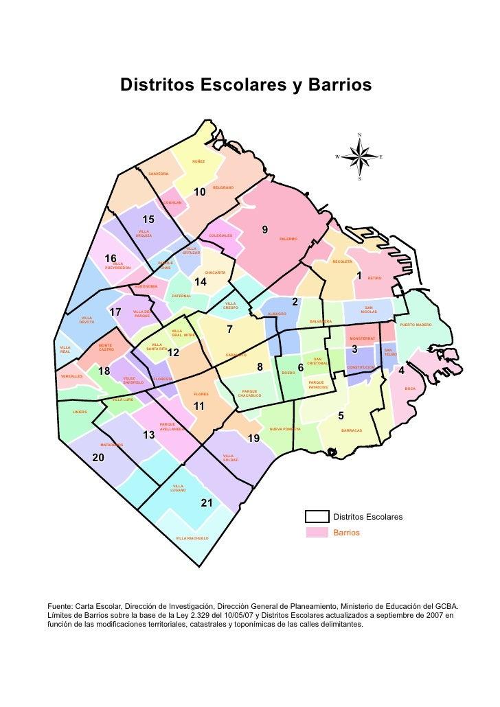 Distritos Escolares y Barrios                                                                                             ...