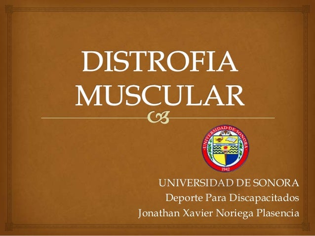Distrofia muscular