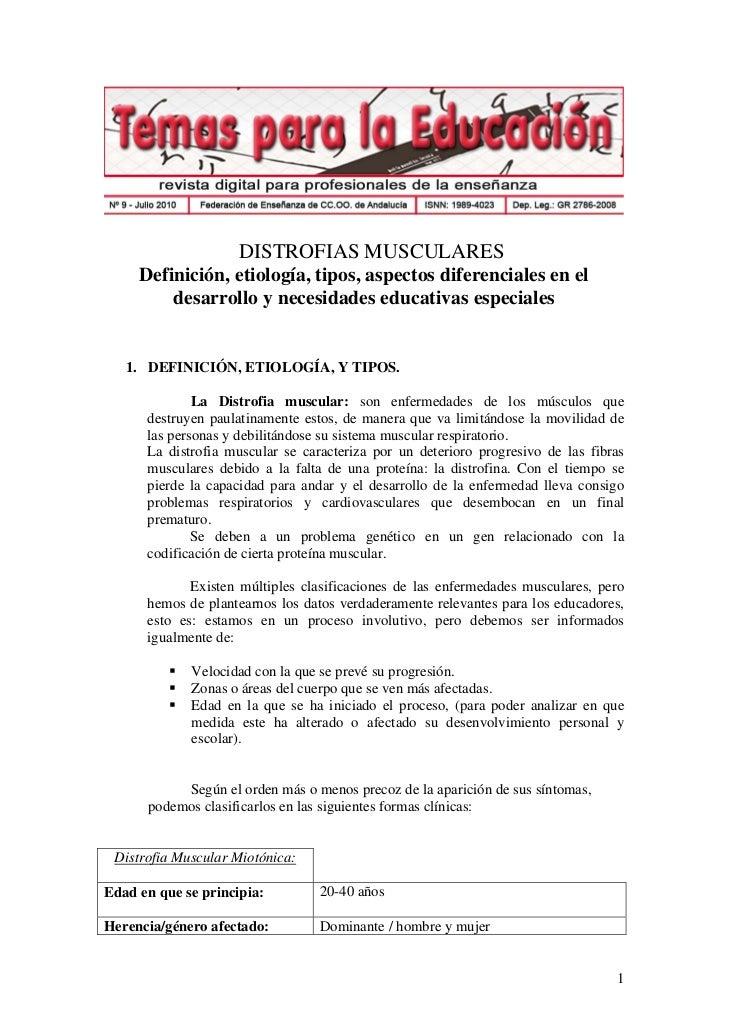 Distrofias musculares - Revista Digital para profesionales de la enseñanza