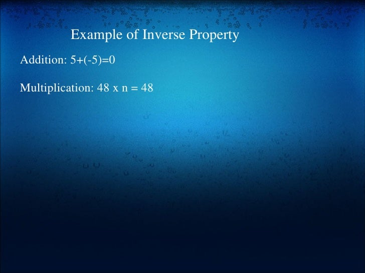 Properties of real numbers period 3