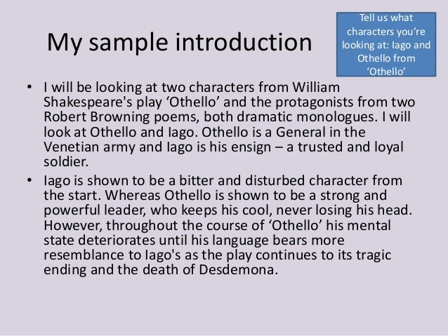 Othello essays iago