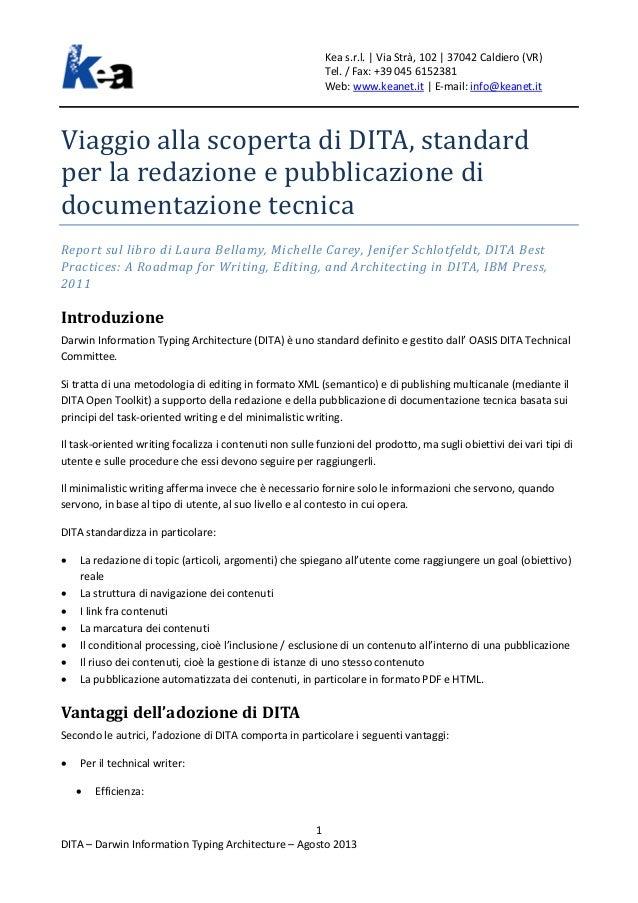Alla scoperta di DITA, standard per la redazione e pubblicazione di documentazione tecnica