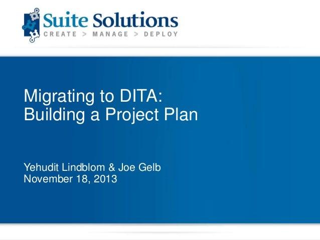 DITA Quick Start Webinar Series: Building a Project Plan