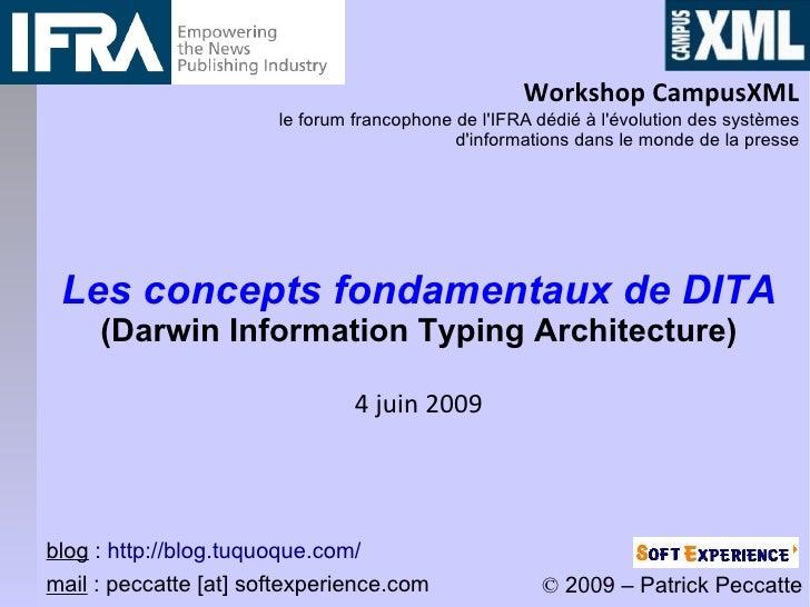 Workshop CampusXML                        le forum francophone de l'IFRA dédié à l'évolution des systèmes                 ...