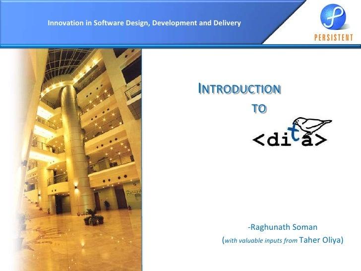 DITA introduction