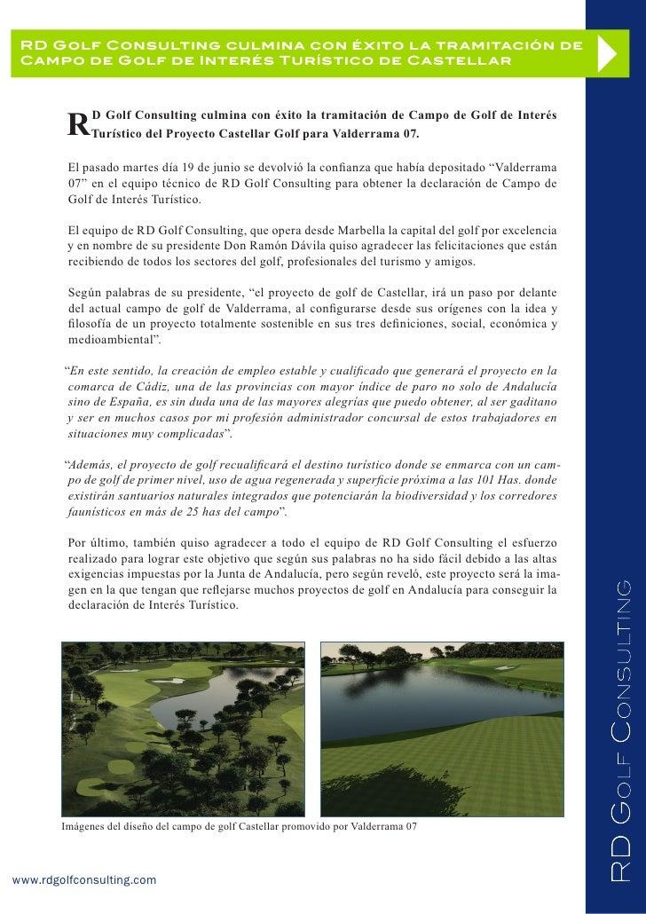 Declaración de Interés Turístico del Proyecto Castellar Golf