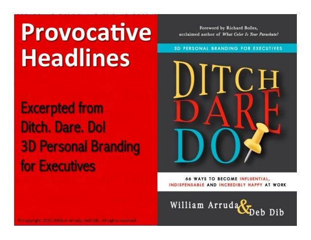 Ditch Dare Do Headlines