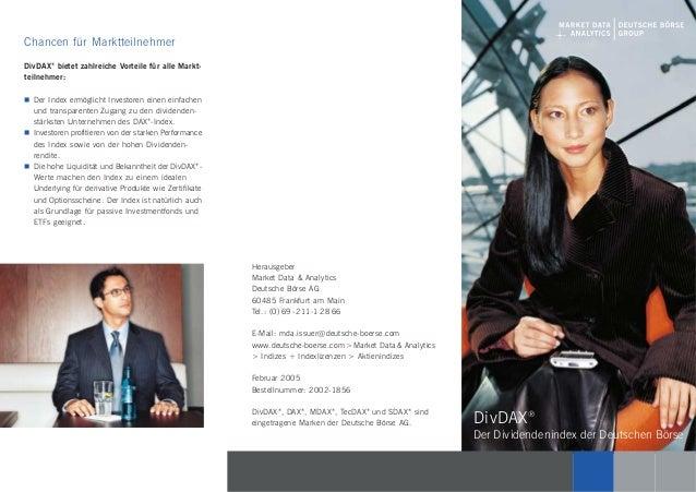 Herausgeber Market Data & Analytics Deutsche Börse AG 60485 Frankfurt am Main Tel.: (0) 69-2 11-1 28 66 E-Mail: mda.issuer...