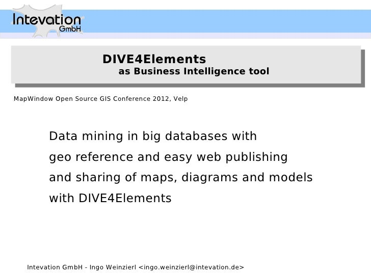 DIVE4Elements                        DIVE4Elements                             as Business Intelligence tool              ...