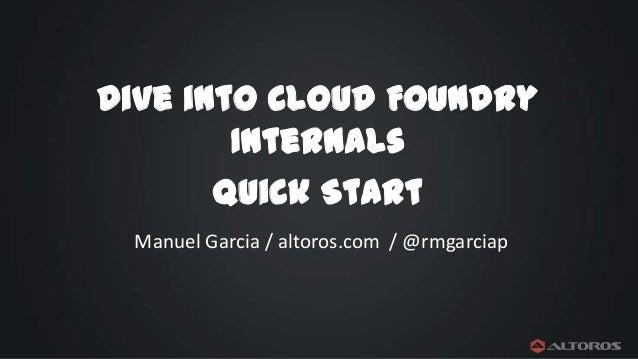 Cloud Foundry: Hands-on Deployment Workshop