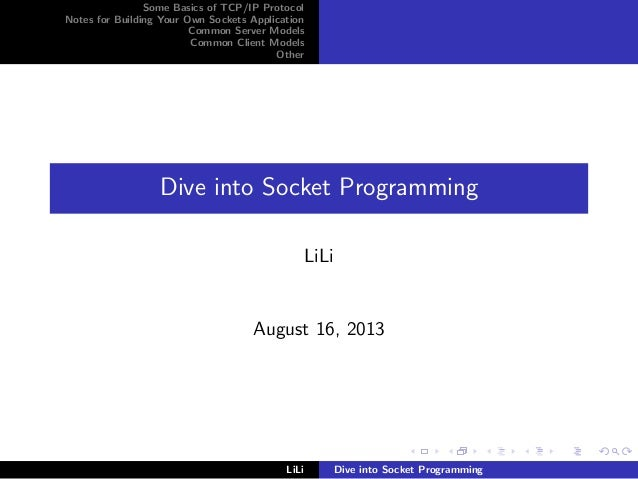 Dive into network_programming