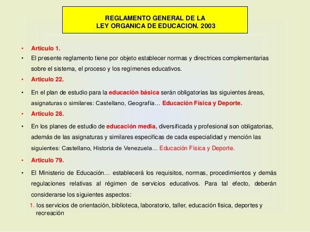 Diversas bases legales que legitiman y regulan la Educación Física y ...